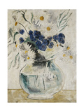 Daisies and Cornflowers in a Glass Bowl Giclee Print by Christopher Wood