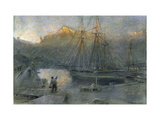 The Port of Sollo, Majorca Prints by Albert		 Goodwin