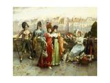 Flirtation Giclee Print by Henri Victor Lesur