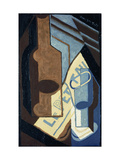 Bottle and Glass Premium Giclee Print by Juan Gris