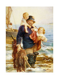 The Ferry Giclee Print by Frederick		 Morgan