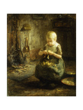 A Child Peeling Potatoes Giclee Print by Evert Pieters