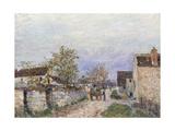 Rue a Veneux Giclee Print by Alfred Sisley