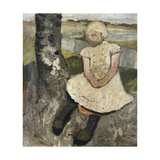 Child Sitting under a Tree Giclee Print by Paula		 Modersohn-Becker