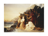 The Britons Deploring the Departure of the Last Roman Legion Giclee Print by Edward Henry		 Corbould