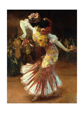 A Flamenco Dancer Premium Giclee Print by Suzanne		 Daynes-Grassot-Solin