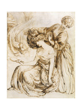 Study for Desdemona's Death Song: Othello, Act IV, Sc. III Premium Giclee Print by Dante Gabriel Rossetti