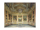 Interiors of the Palazzo Pitti, Florence Giclee Print by Domenico		 Caligo