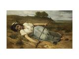 The Shepherdess Giclee Print by Jean Francois Portaels