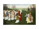 A May Procession Giclee Print by Franz		 Muller