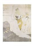Woman in a Corset, from Elles Lámina por Henri Toulouse-Lautrec