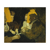 Game of Cards (The Brothers Natanson, Misia and Leon Blum) Giclee Print by Edouard		 Vuillard