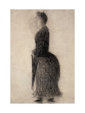 Woman with a Parasol Giclee Print by Georges Seurat