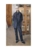 Portrait of Pierre Rabot Giclee Print by Gustave Caillebotte