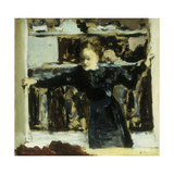 Woman Opening a Window Poster by Edouard		 Vuillard