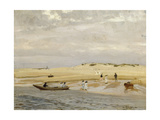 Figures on a Beach Giclee Print by Algernon		 Talmage