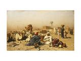 An Arab Encampment Giclee Print by Leopold Carl Muller