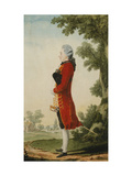 The Baron de Talleyrand, in a Landscape Giclee Print by Louis de		 Carmontelle
