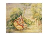Girls in a Garden Posters by Pierre-Auguste Renoir
