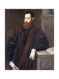 Portrait of a Gentleman in a fur-trimmed coat Posters by Jacopo Robusti Tintoretto