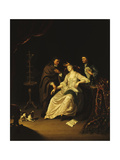 A Doctor tending a swooning Girl Giclee Print by Frans van Mieris the younger