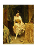 Young Woman at a Dressing Table Giclee Print by Madrazo y Garreta Raimundo
