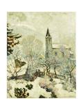 Murol Church in Winter Giclee Print by Victor Charreton