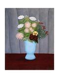Garden Flowers Posters by Henri Rousseau