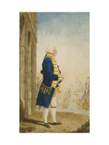 The Duke of York on a Quay in a Flag Officer's Uniform Giclee Print by Louis Carmontelle