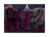 Southern Mountain Village Art by Paul Klee