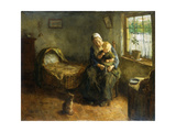 Dressing the Baby Giclee Print by Jacob Simon Hendrik		 Kever