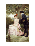 A Courting Couple Prints by Jules Arsene		 Garnier