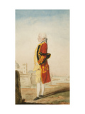 Colonel Morrison Possibly in the Uniform of the Royal Engineers, a Fortified Town Behind Print by Louis Carmontelle