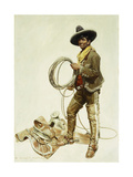 Mexican Cowboy Giclee Print by William Herbert 'Buck'		 Dunton