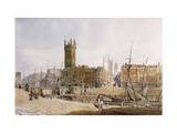Draw Bridge from St. Augustine's Bank, Bristol Giclee Print by James		 Johnson