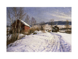 A Winter Landscape, Lillehammer Prints by Peder		 Monsted