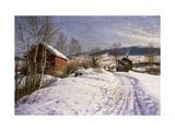 A Winter Landscape, Lillehammer Prints by Peder Mork Monsted