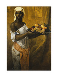 A Negress Holding a Salver of Fruit Giclee Print by Georg		 Pauli