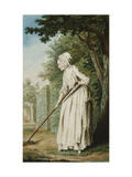 The Duchess of Chaulmes, as a Gardener in an Allee Giclee Print by Louis Carmontelle