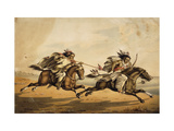 The Chase Giclee Print by Peter		 Rindisbacher