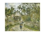 Le Chemin de Hameau-Chaumieres au Valhermeil Posters by Camille Pissarro