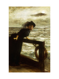 Lady in Black by the Sea Posters by George Bos