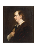 Portrait of Oliver Goldsmith (1728-1774), half-length, in a Black Jacket Giclee Print by Sir Joshua Reynolds