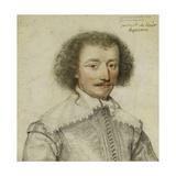Portrait of Pierre Le Hayer Duperron, bust-length, inside a Traced Border Giclee Print by Daniel Dumonstier