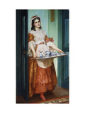 The Dish of Tea Giclee Print by Valentine Cameron		 Prinsep