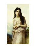 Meditation Prints by William Adolphe Bouguereau