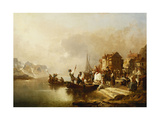 A Wedding Party Boarding a Boat Giclee Print by Franz Richard		 Unterberger