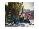 Fisherman and Stream Prints by George Wesley		 Bellows