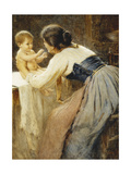 Motherly Love Giclee Print by Tommasi Publio