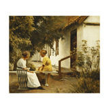 In the Garden Giclee Print by Peter		 Ilsted